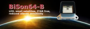 sun sensor - BiSon64-B for space applications: LEO, small satellites, ITAR free, reduced albedo sensitivity